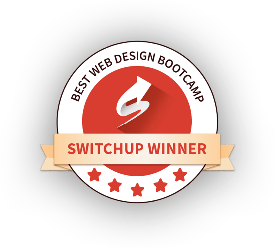 Voted Best Web Design Bootcamp Winner on SwitchUp.org