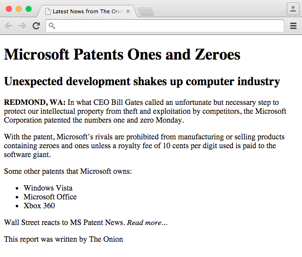 Microsoft patent website sample exercise