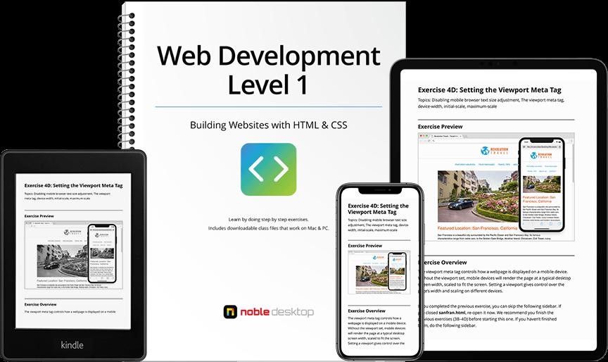 Training Workbooks | Noble Desktop