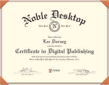 Noble Desktop Certificate