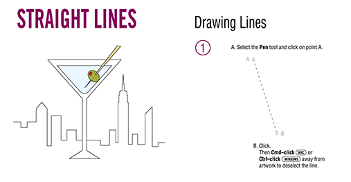 Drawing Lines With Pen Tool Photo : Using the pen tool training class new york