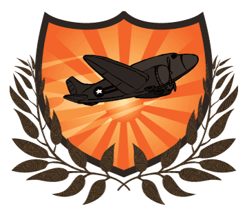 Plane logo using Illustrator's clipping masks