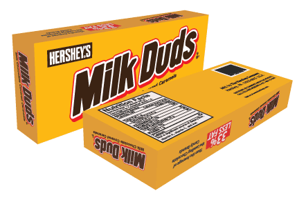 Milk Duds 3D packaging created with Adobe Illustrator