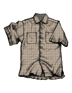 Shirt pattern using Adobe Photoshop & Illustrator