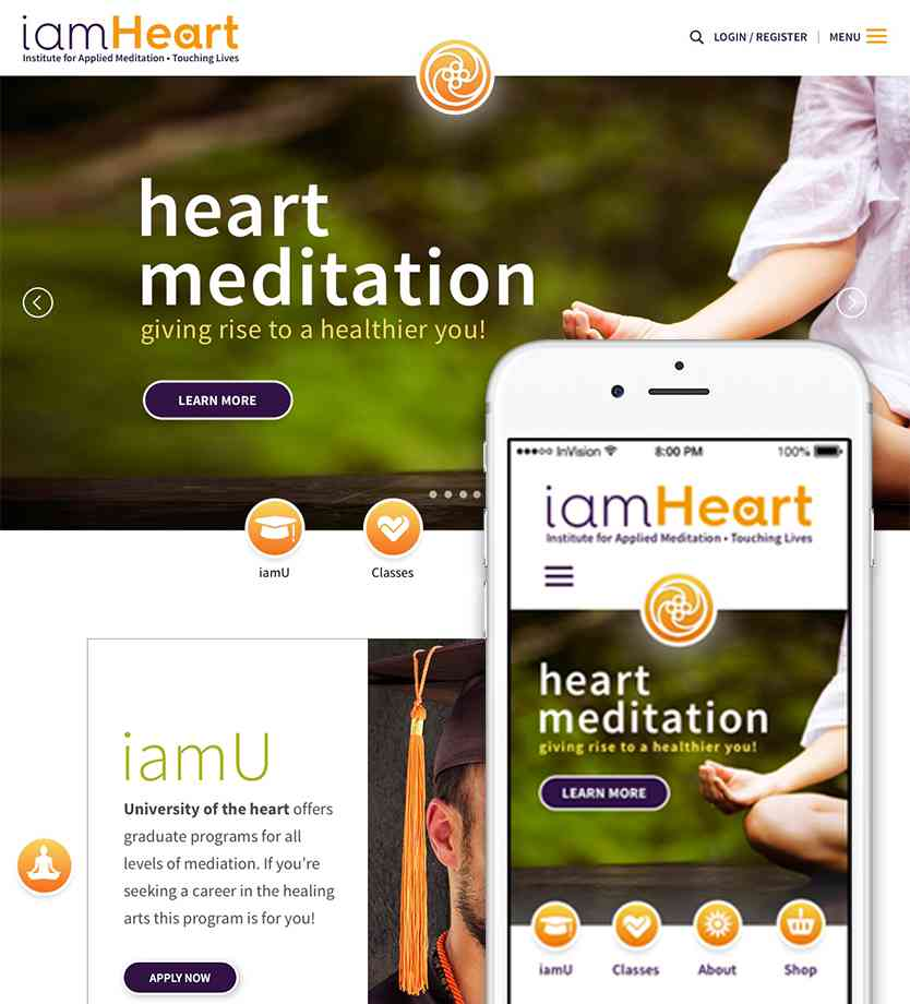 Meditation website and app design from visual design class