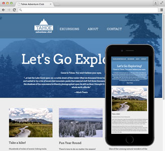 Lake Tahoe website optimized for mobile