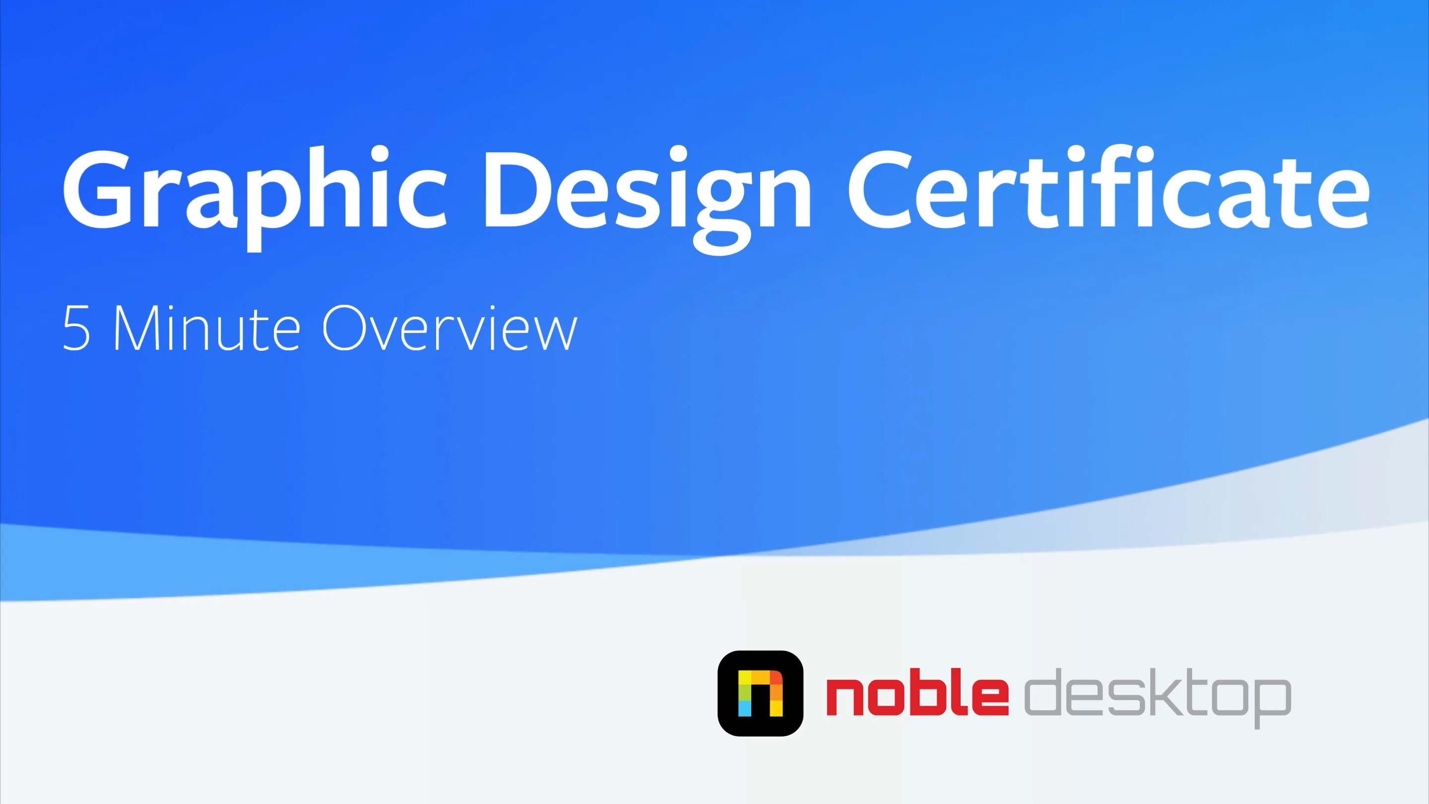 Graphic Design Certificate Class Overview