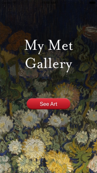 Screenshot of Met Gallery iOS app