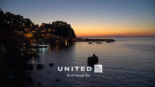 Screenshot of United video ad created in Premiere Pro