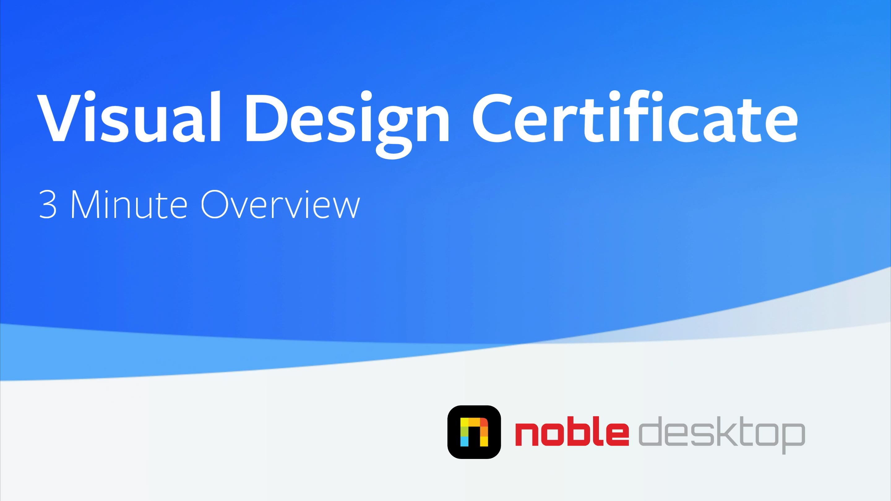 Visual Design Certificate Class Overview