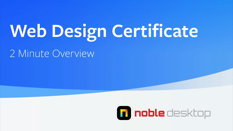 Web Design Certificate Programs NYC | Web Design Courses