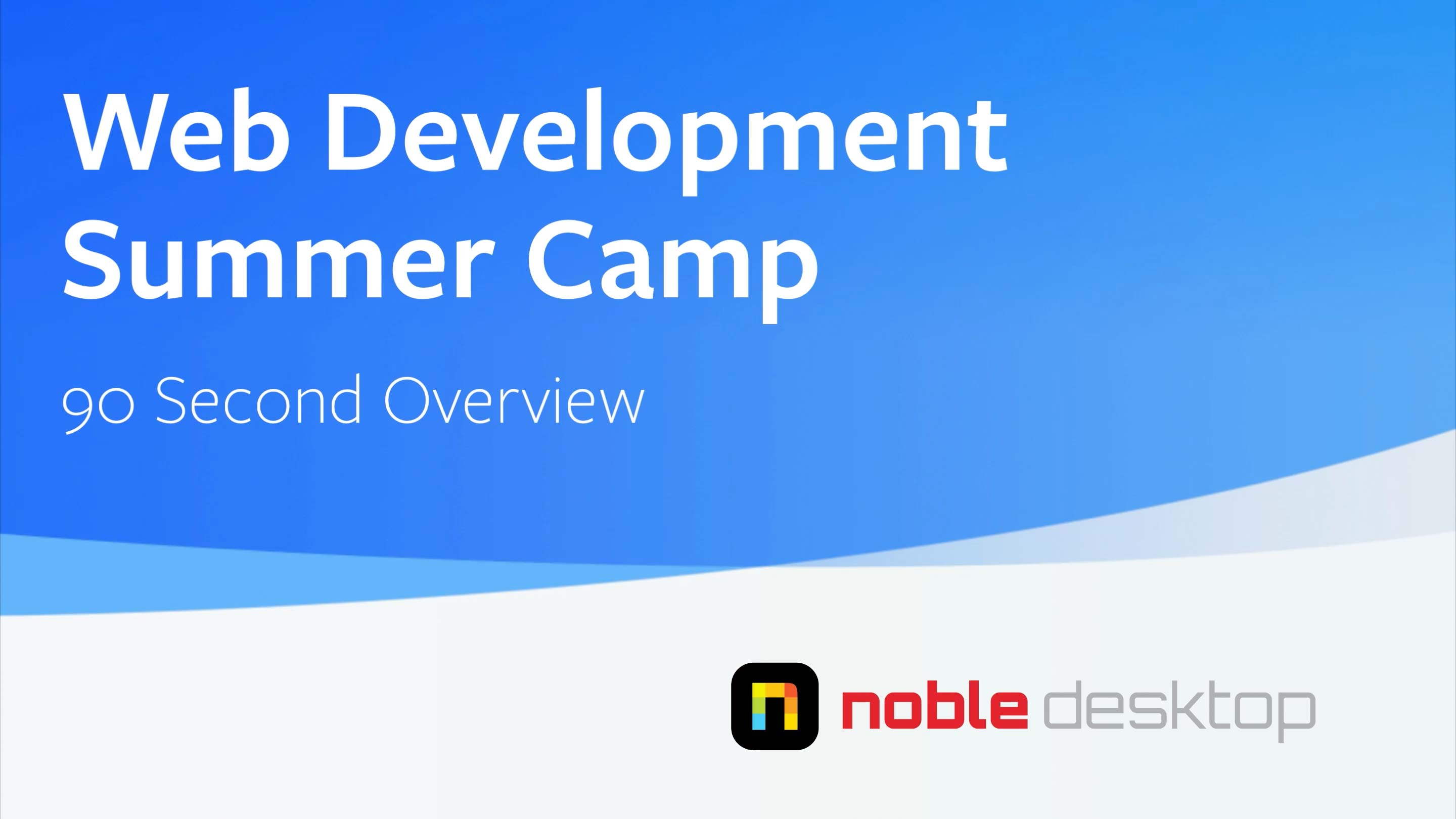 Web Development Summer Camp (NJ) Class Overview